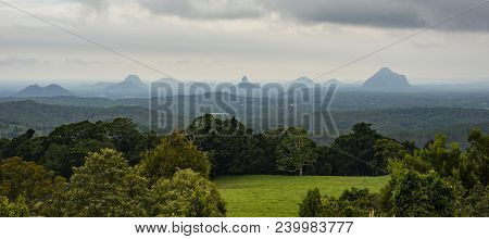 View Of The Maleny Mountains Hinterlands.