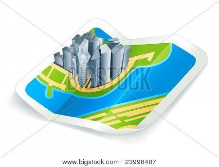 Město na mapě, ikona