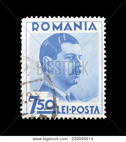 Romania - Circa 1935 : Cancelled Postage Stamp Printed By Romania, That Shows King Karl.