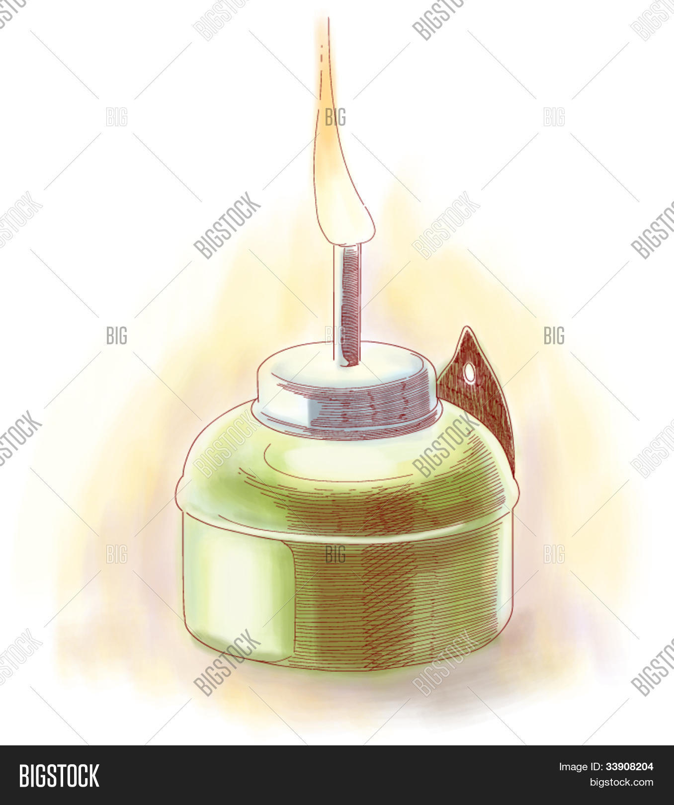 Vector Muslim Oil Lamp - Pelita Vector  for Oil Lamp Clip Art  110ylc