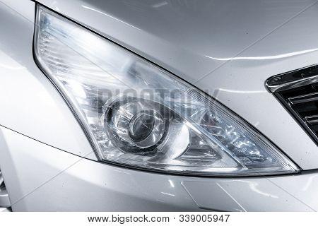Novosibirsk, Russia - October 23, 2019:  Nissan Teana,exterior Of A Modern Car. Close Up Detail On O