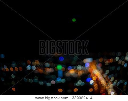 Colorful  Night Ligh.abstract Of Bokeh Blur Background