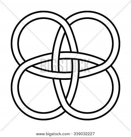 Amulet Celtic Knot Vector Celtic Knot Intertwined Lines Symbol Of Longevity And Health