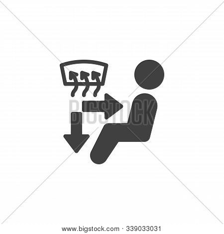 Car A C Control Vector Icon. Filled Flat Sign For Mobile Concept And Web Design. Car Windshield Defr