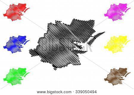 Dublin City County Council (republic Of Ireland, Counties Of Ireland) Map Vector Illustration, Scrib