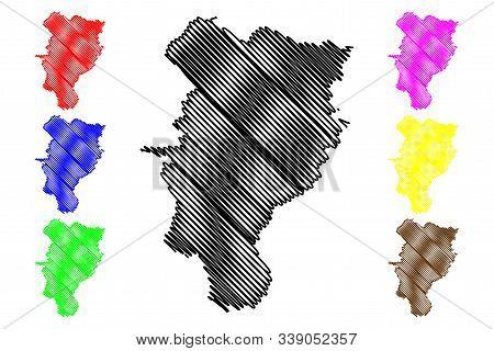 Kildare County Council (republic Of Ireland, Counties Of Ireland) Map Vector Illustration, Scribble