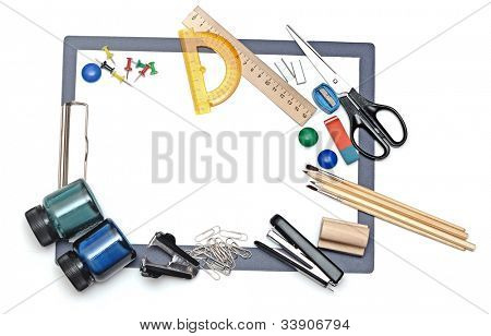 Büro- und Studenten-Tool over white background
