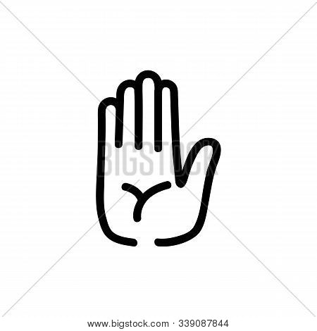 Guessing On The Hand Icon Vector. A Thin Line Sign. Isolated Contour Symbol Illustration