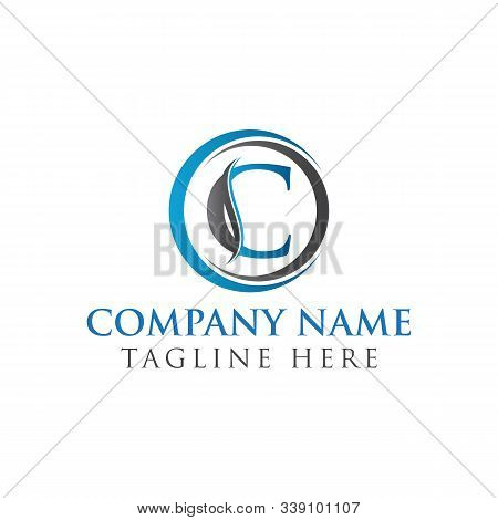 Circle Letter C Logo With Creative Modern Business Typography Vector Template. Creative Abstract Let