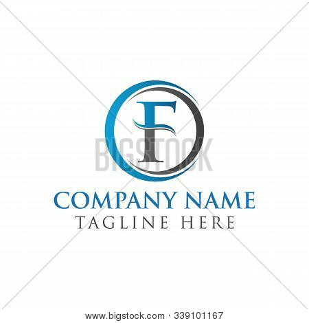 Circle Letter F Logo With Creative Modern Business Typography Vector Template. Creative Abstract Let