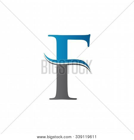 Initial Letter F Logo With Creative Modern Business Typography Vector Template. Creative Abstract Le