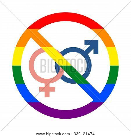 No Sign, Only For Lgbt Pride, Stock Vector Illustration Clip Art
