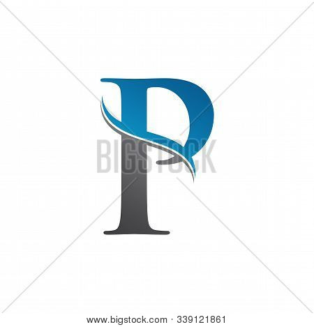 Initial Letter P Logo With Creative Modern Business Typography Vector Template. Creative Abstract Le