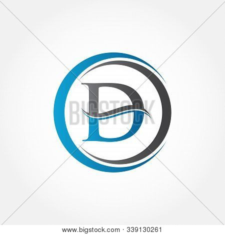 Circle Letter D Logo With Creative Modern Business Typography Vector Template. Creative Abstract Let