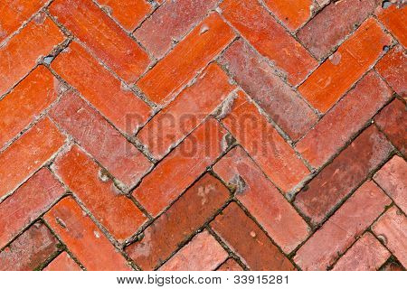 The Pattern Of The Brick Floor
