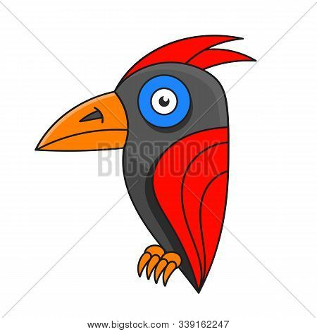 Woodpecker Logo. Abstract Woodpecker On White Background. Eps 10. Vector Illustration