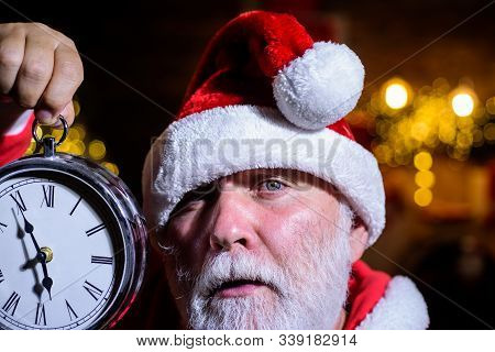 Christmas Clock. New Year Clock. Time To Celebrate. Merry Christmas. Happy New Year. Christmas Time.