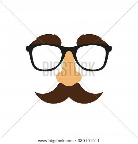 Vector Illustrationo Of Funny Mask. Flat Style.
