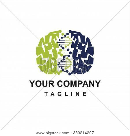 Brain Dna Technology Vector Logo And Icon