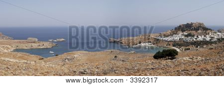 Lindos, Rhodes Panorama