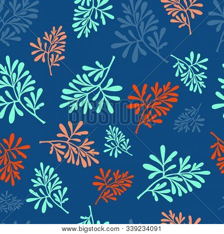 Medicinal Plant. (ruta Graveolens). Color Of The Year 2020. Lush Lava, Aqua Menthe, Classic Blue. Bo