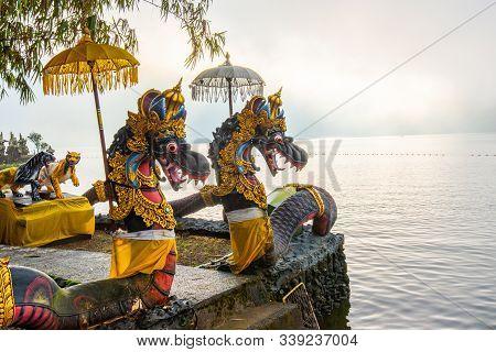 Pura Ulun Danu Beratan, Or Pura Bratan, Is A Major Shaivite Water Temple On Bali, Indonesia. The Tem