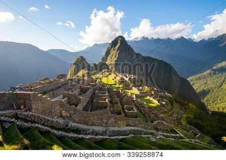 Machu Picchu - The Last Sun Rays Enlightening The Machu Picchu, Peru