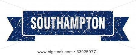 Southampton Ribbon. Blue Southampton Grunge Band Sign