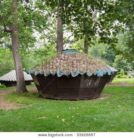 Wooden Yurts At Glen Echo