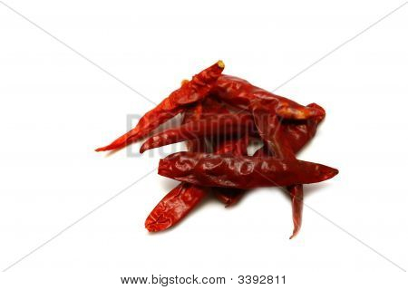 Dry Red Hot Pepper Isolated