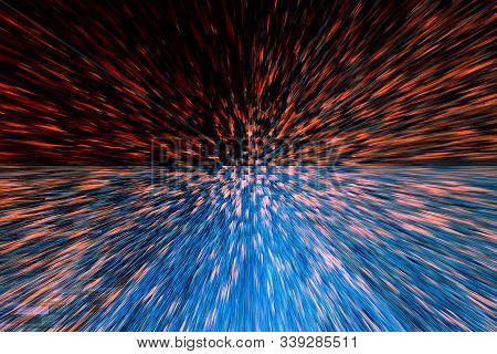 Abstract Background Blue Orange Black Brown Color With Colorful Texture And Extrusion Effect And Mot
