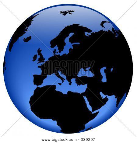 Globe View - Europe