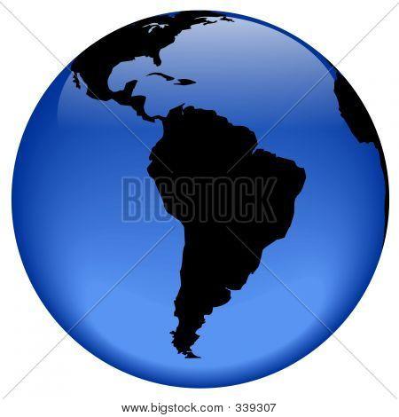Globe View - South America