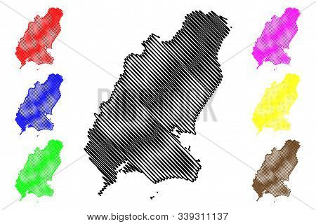 Wexford County Council (republic Of Ireland, Counties Of Ireland) Map Vector Illustration, Scribble