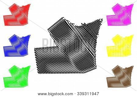 Hawalli Governorate (state Of Kuwait, Governorates Of Kuwait) Map Vector Illustration, Scribble Sket