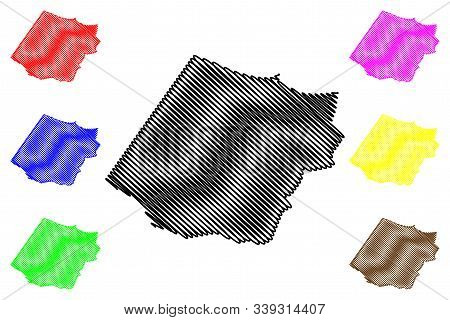 Al Batinah South Governorate (sultanate Of Oman, Governorates Of Oman) Map Vector Illustration, Scri