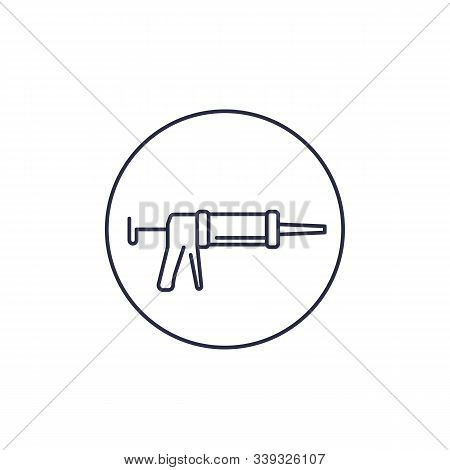 Silicone Gun Line Icon, Eps 10 File, Easy To Edit