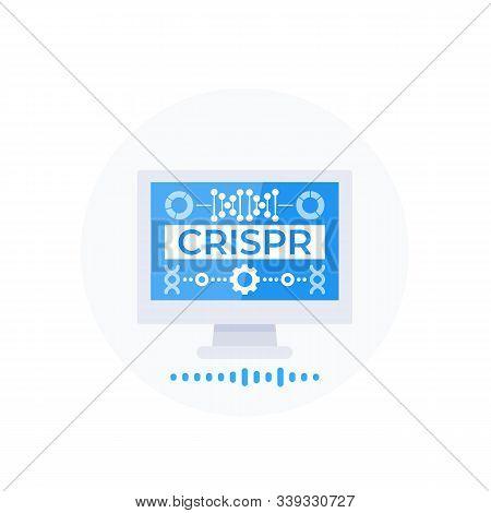 Crispr, Genome Editing Technology, Vector Illustration, Eps 10 File, Easy To Edit
