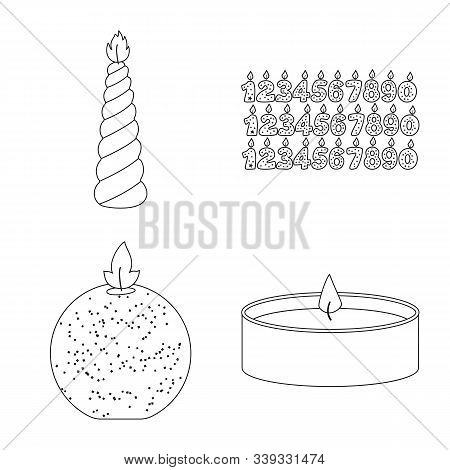 Isolated Object Of Source And Ceremony Symbol. Collection Of Source And Fire Vector Icon For Stock.