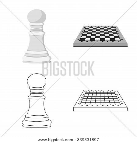 Isolated Object Of Checkmate And Thin Icon. Collection Of Checkmate And Target Stock Vector Illustra