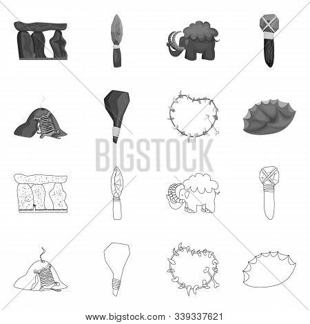 Vector Design Of Evolution And Prehistory Sign. Collection Of Evolution And Development Vector Icon