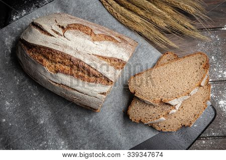 Traditional Rye Bread On Table.