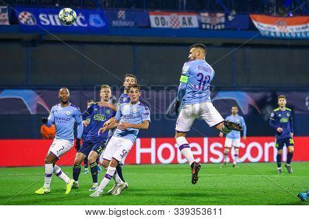 Zagreb, Croatia - December 11, 2019 : Dinamo Zagreb Vs Manchester City, Uefa Champions League, Group