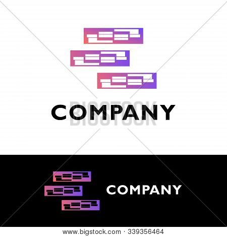 Logo Design Company. Gradient Combination Logo. Logo Design For General Business. Great For Anykind
