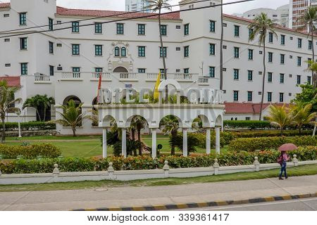 Cartagena/columbia-11/5/19: The Hotel Caribe, A Caribbean Hotel In The City Of Cartagena, Colombia.