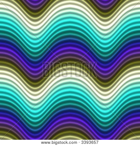 Pop Art Color Waves Blue Light Blue Seamless