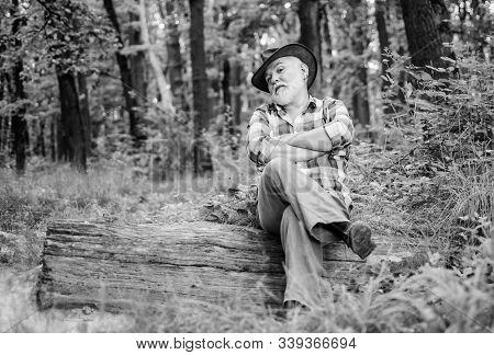 Freak Healer. Folk Magic. Person Purported Magical Abilities. Magician In Forest. Woodman Magician C