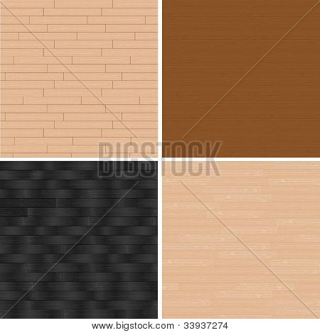 vector realistic wood texture background, set