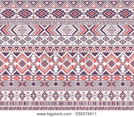 Sacral Tribal Ethnic Motifs Geometric Vector Background. Chic Gypsy Geometric Shapes Sprites Tribal