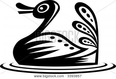 Ethnic Style Duck Design